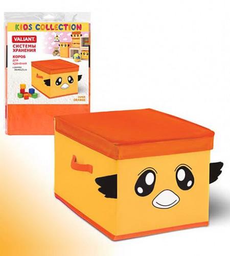 Короб для хранения с крышкой Valiant (оранжевый, 30×40×25 см)