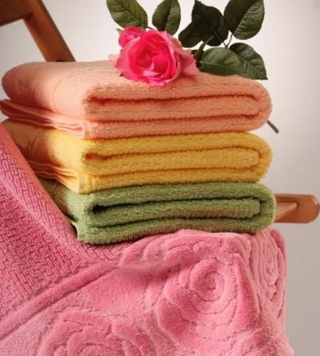 Махровые полотенца Розы (Buddemeyer, Бразилия)