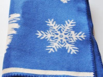 Одеяло хлопчатобумажное (арт.О.12.1, синее)