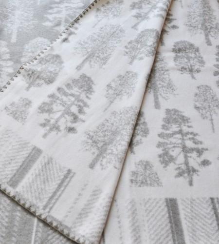 Одеяло хлопчатобумажное (арт.О.12.1, серый лес)