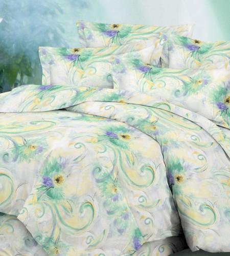 """Комплект постельного белья из сатина """"Green"""" (20-1192)"""