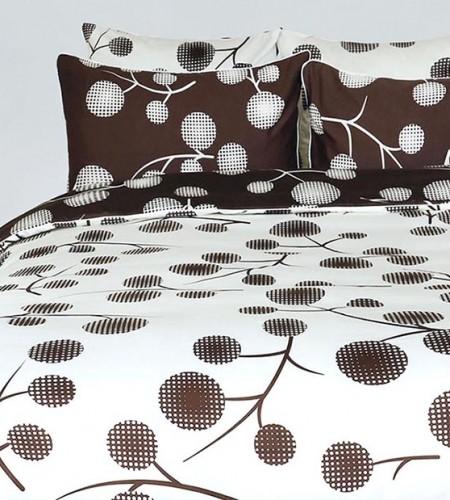 Комплект постельного белья из сатина (40-0879 L.cream, 40-0879 Brown)