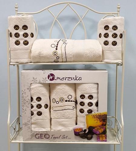 Комплект махровых полотенец в короб. MERZUKA (арт. 8425)