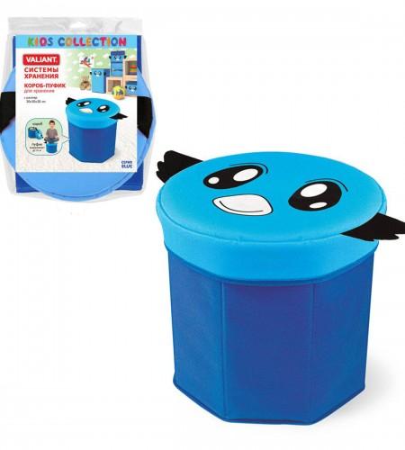 Короб-пуфик для хранения Valiant (синий, 30×30×30 см) BLU 10